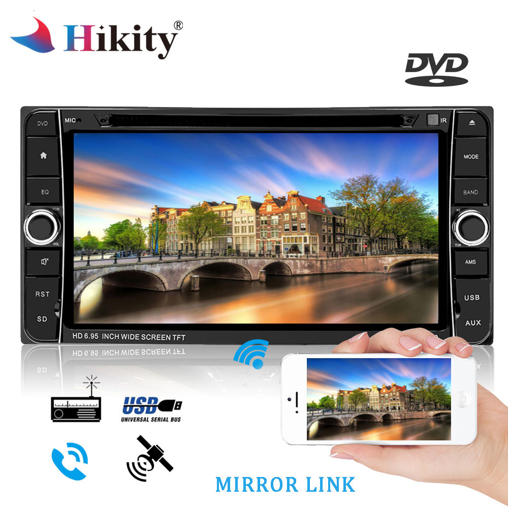 Hikity 7 Android 2 Din Car Radio DVD Stereo Audio GPS Navigation 2din Multimedia player For