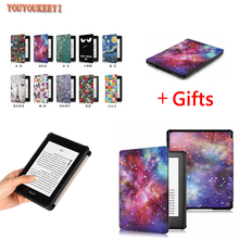 Printing Smart Cover Case For Amazon New Kindle 2019 Released funda Youth version 10th Generation+Stylus as gift