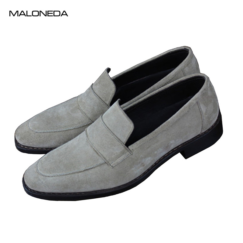 MALONEDA Custom Made Good Shoes Genuine Cow Suede Mens Casual Comfortable Slip On Shoes Loafers with Goodyear WeltedMALONEDA Custom Made Good Shoes Genuine Cow Suede Mens Casual Comfortable Slip On Shoes Loafers with Goodyear Welted