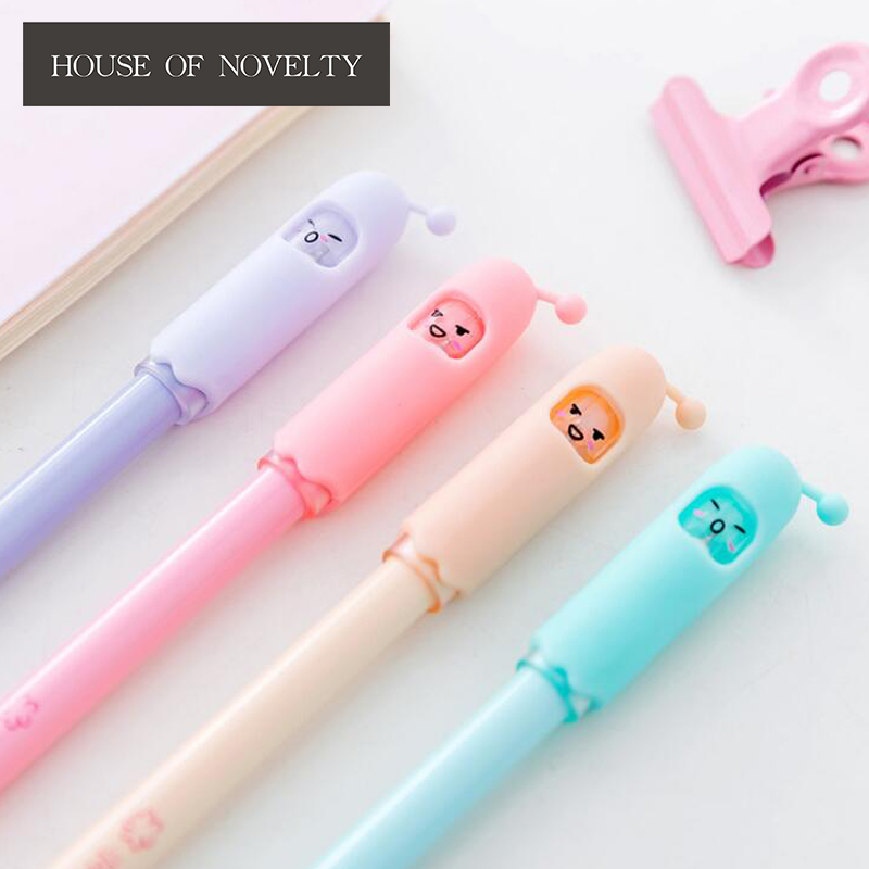 2 pcs/pack Cartoon Robot Baby Gel Pen Ink Pen Promotional Gift Stationery School & Office Supply