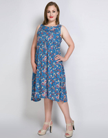 Cute Ann Womens Sexy Sleeveless Plus Size Party Dress Florial Print Bohemian Dress Summer Casual Dress