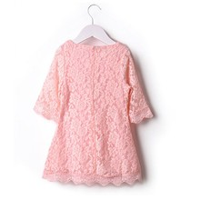 Мода Дети Sweet Girl Устанавливает Детское Платье Одежда Цветочный Цветок Кружева Платье 2 3 4 5 6 7 лет