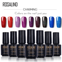 ROSALIND Black Bottle 7ML Neon Rainbow Shimmer R01-29 Gel Nail Polish Nail Art Nail Gel Polish UV LED Gel+Long-Lasting