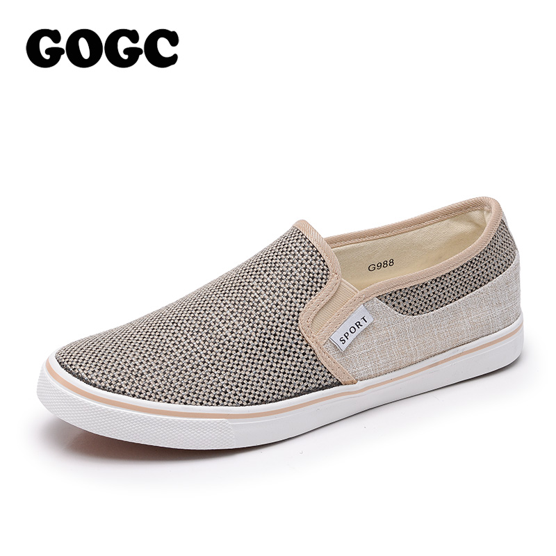 GOGC Brand New Canvas Men Shoes Comfortable and Breathable Sneakers Men Fashion Flats Shoes Male Casual Mans Footwear Size 40-45