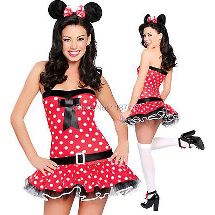 Sexy minnie mouse halloween costume for women