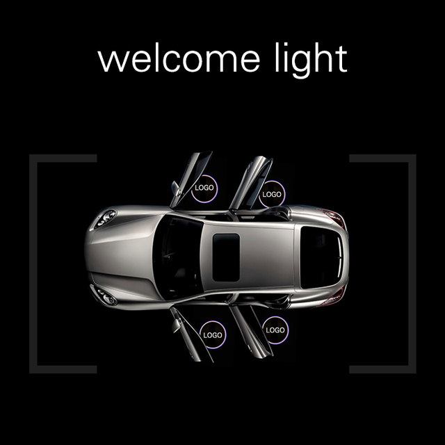 1pcs Custom-made Wireless Car LOGO LED Projector Light Customized Car Door Welcome Light Car LED Projector Laser Light Universal