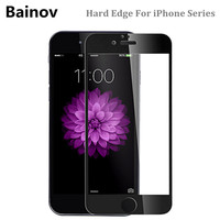 Bainov Full Cover 9H Hard Edge Tempered Glass For iPhone 6 6s Plus Explosion-Proof Screen Protector Film For iPhone 7 7Plus