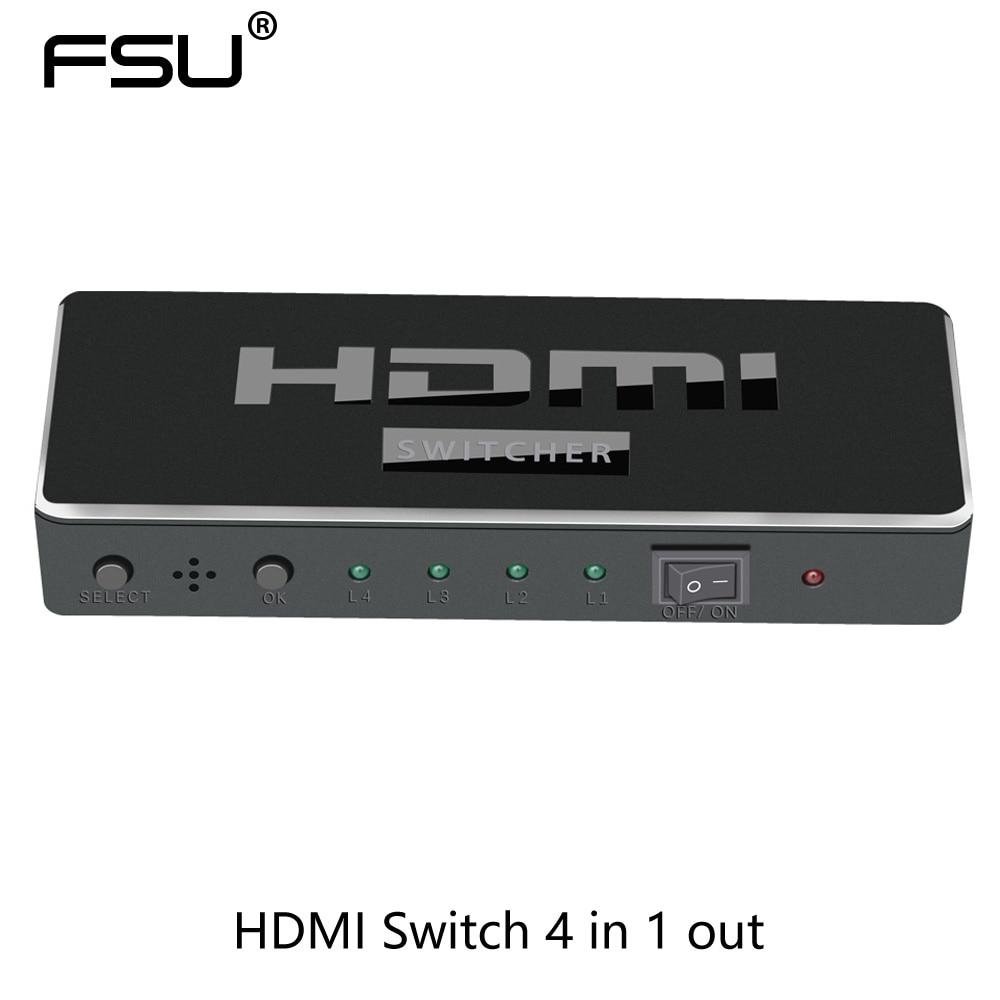 4 k 1080 p 3D HDMI Switcher 4 en 1 avec IR Télécommande 5 V DC Puissance Adaptateur pour HDTV PS3/4 Xbox360 set-top boîte