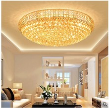 Crystal lamp living room lamp modern round ceiling lamps hotel engineering villa lighting restaurant bedroom lighting fixture cheap Ceiling Lights 90-260V Plated Iron 15-30square meters Knob switch Foyer Bathroom Bed Room Study KİTCHEN Dining Room 201811160620182018