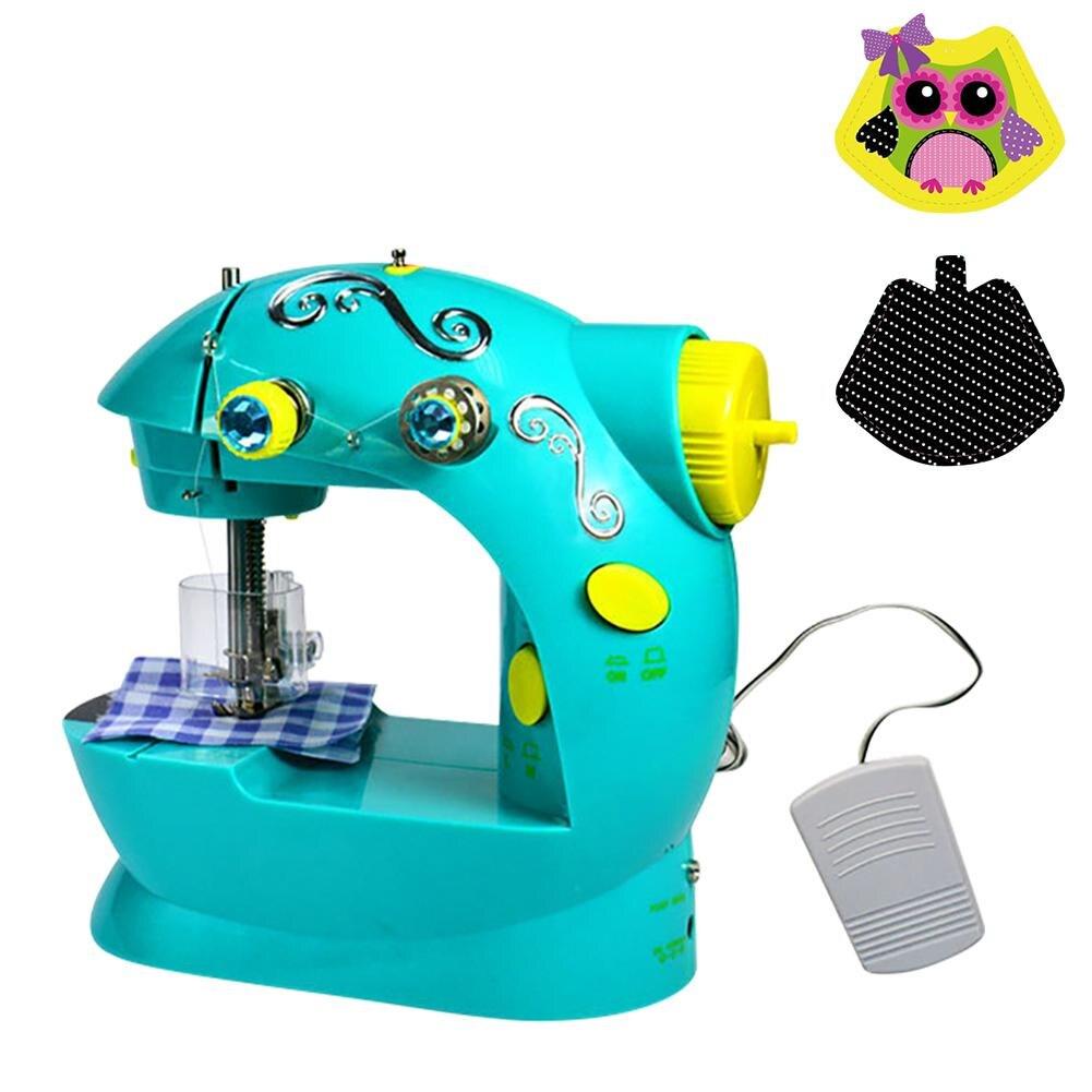 Многофункциональный бытовой Электрический Mini небольшой Портативный Миниатюрный Детская игрушка швейная машина без платы