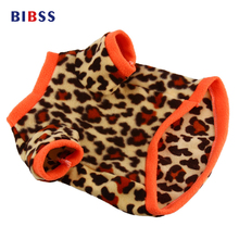 Cute Fleece leopard pet dog clothes,XS-L Size Cute Small Dog Clothes Fleece Soft Pet Sweater Clothing Costumes for dogs