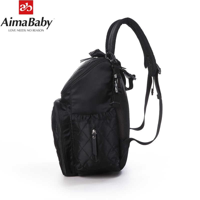 AIMABABY おむつバッグファッションミイラ産科おむつバッグブランドのベビー旅行バックパックおむつオーガナイザー看護のためのベビーカー