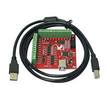 цена на MACH3 4 Axis 100KHZ USB Smooth Stepper Motion Controller card breakout board for CNC machine