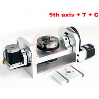 CNC 4th as 5th Roterende as met chuck 3 Jaw Elektrische Chuck voor cnc router machine