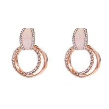 2019 New Hot Sale Earings Oorbellen Brincos Simple Fashion Color Plated Geometric Big Earrings For Women Drop Jewelry  недорого