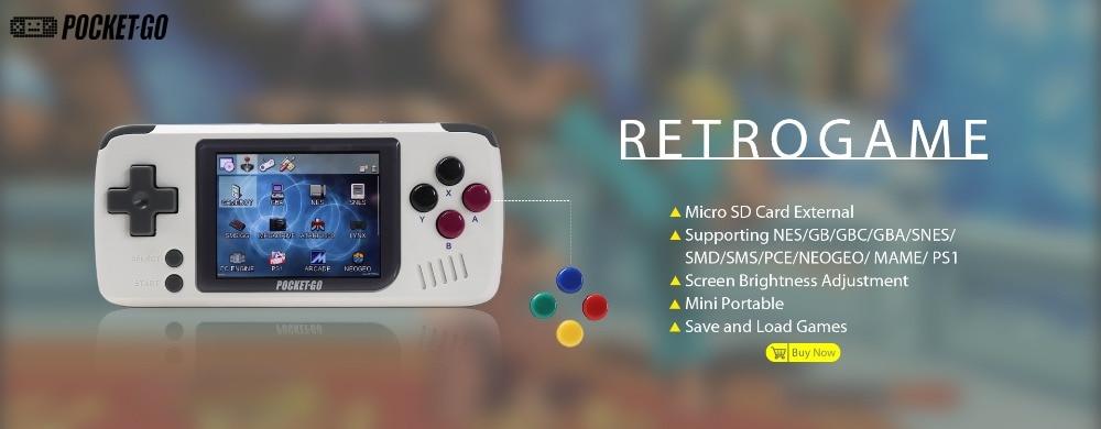 Consola de juegos PocketGo Retro 2