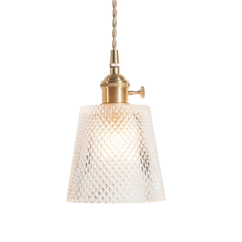 Edison Loft Style Industrial Vintage LED Pendant Light Fixtures Copper Glass Single Hanging Lamp Deco Home Lighting Droplight