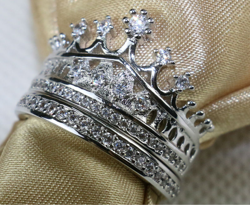 Lady Engagement Ring Queen Crown Princess Coronet Aaa Zircon S925 Silver Women S Wedding Band Jewelry Sz5 10 In Rings From Accessories On