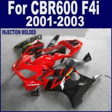 7 Подарков Для литья под давлением для HONDA CBR 600 F4i черный красный 01 02 03 CBR600 F4i 2001 2002 2003 обтекатель CLFD