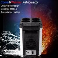 Portable Voiture Réfrigérateur Refroidisseur Congélateur Chaud 48 W 12 V 6L ABS Mini Voyage accueil Auto Réfrigérateur Double Utilisation