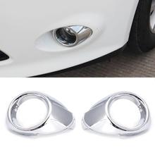 2 предмета ABS Chrome автомобилей передние противотуманные свет лампы чехол накладка для Ford Focus 3 MK3 2012 2013
