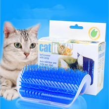 Corner Pet Brush Comb Play Cat Toy Plastic Scratch Bristles Arch Massager Self Grooming Scratcher