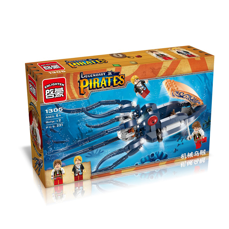 Building Blocks Mechanical  Squid Compatible with Legoelieds Educational DIY Toys for Children 231pcs 1305 china brand l0409 educational toys for children diy building blocks 00409 compatible with lego