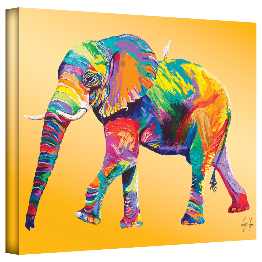 abstract elephant painting oil on Canvas The Ride Hand painted art ...