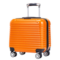 16 Inch ABS Travel Rolling Luggage Fashion Cabin Suitcase on Wheels Women Trolley Case Carry on Men Spinner Hardside Luggage