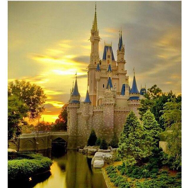 5D DIY Palace Landscape Diamond Painting Castle Scenery Stitch Full ...