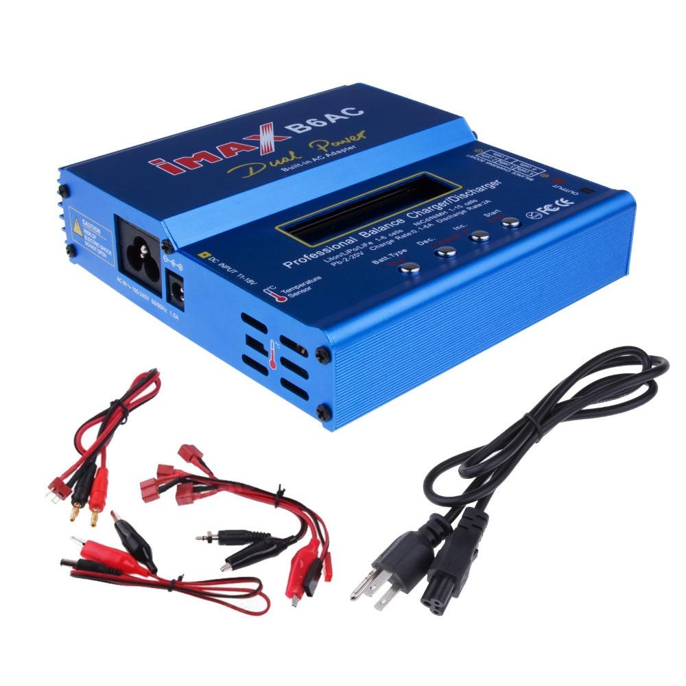 Chargeur Batterie IMAX B6 Haute qualité D'origine IMAX B6AC Équilibre Chargeur Lipo Balance Numérique De Charge Turnigy adaptateur