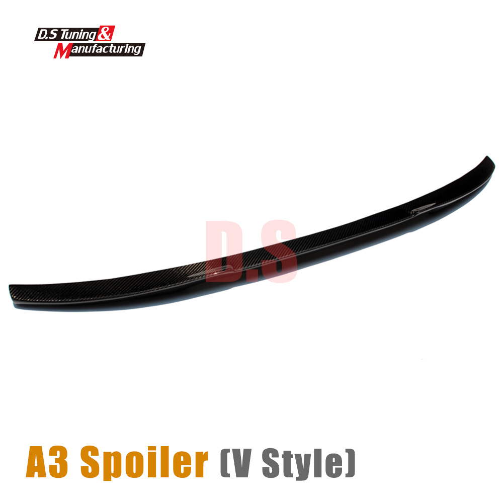 A3 Vorsteiner look carbon fiber rear trunk spoiler wing back tail trunk wing for Audi A3 2013 - present 4-doors with 3M tape