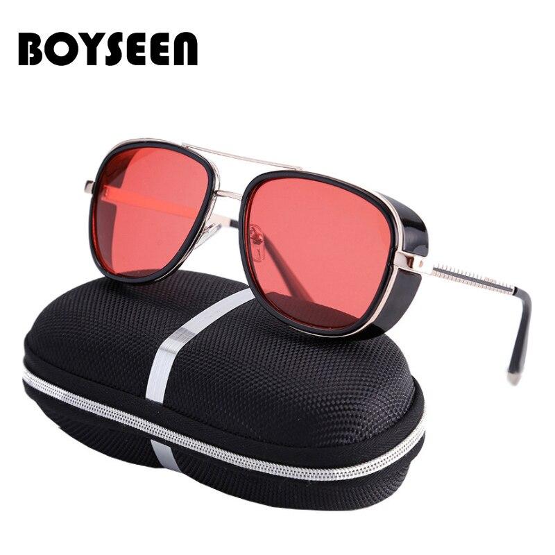 3fee3ed74 Tony Stark Iron Man Sunglasses Men Luxury Brand Eyewear Mirror Punk Sun  Glasses Vintage Male Sunglasses Steampunk Oculos ironman-in Sunglasses from  Apparel ...