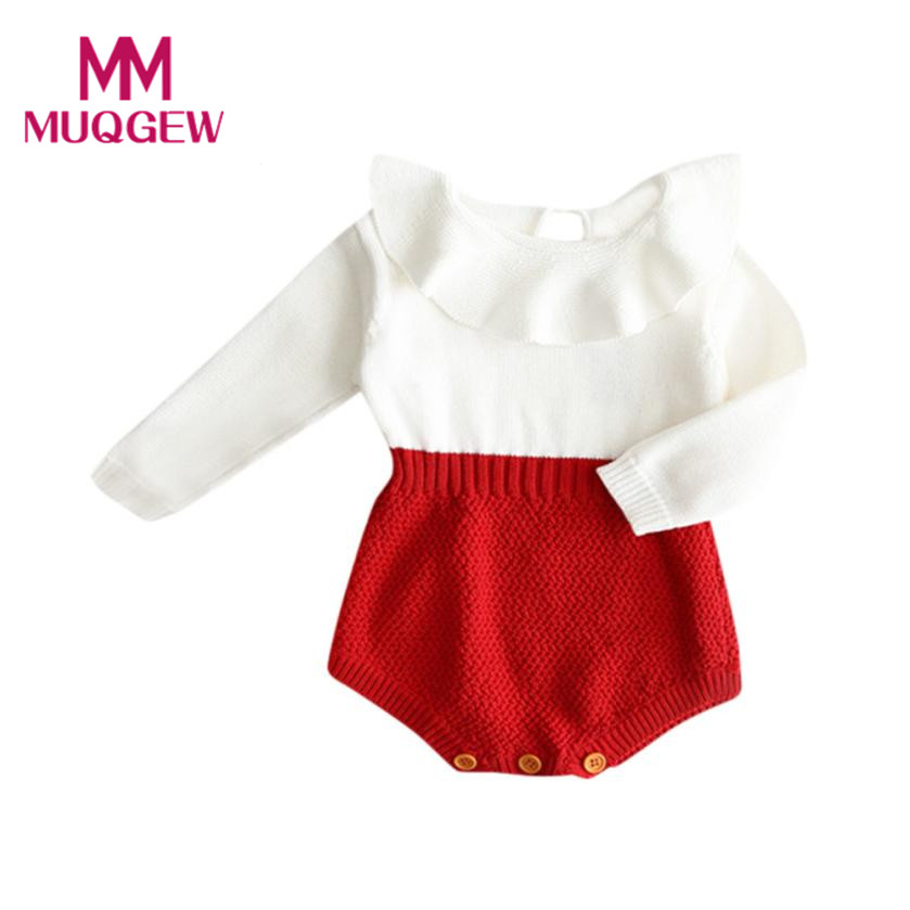 d3fa5a9cb829 Buy baby Girls Romper long sleeve Baby rompers knit Winter Princess ...