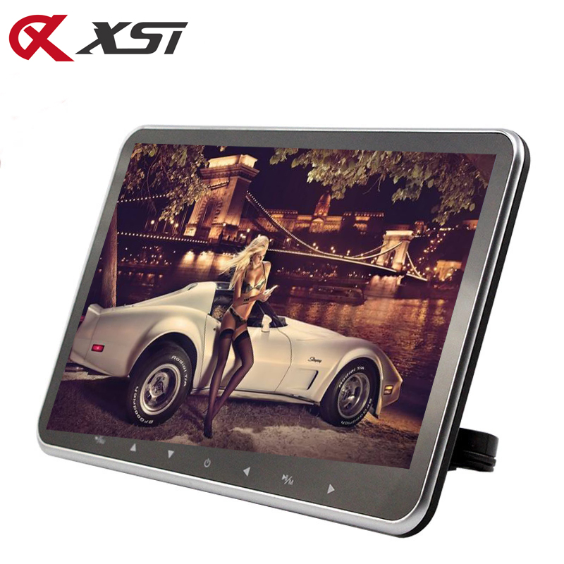 XST 10.2 inch Monitor de tetieră ultra-subțire pentru monitor MP5 Player HD 1080P Ecran video TFT cu slot USB / SD / HDMI / transmițător FM / difuzor