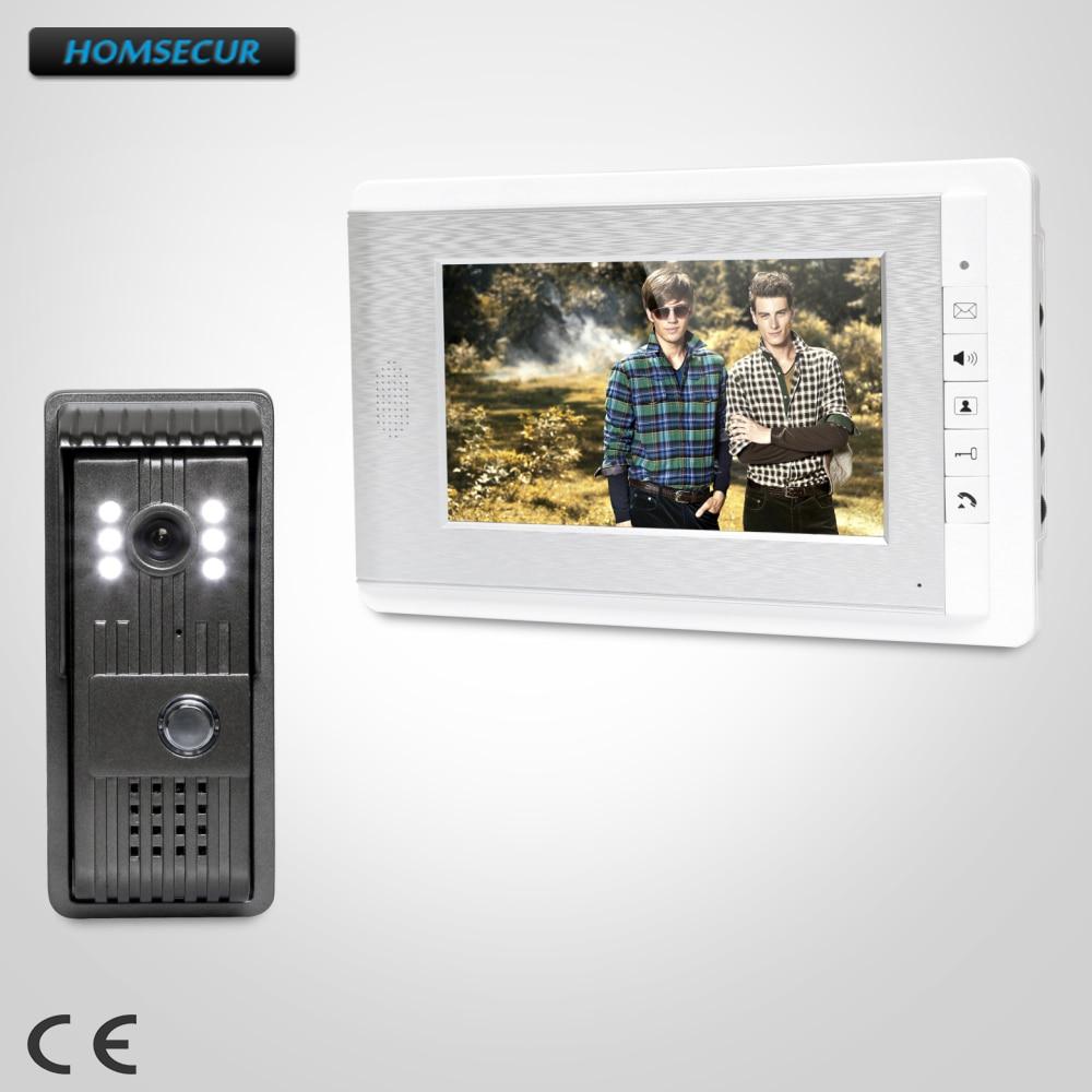 все цены на HOMSECUR 7inch Hands-free Video Door Entry Call System with Intra-monitor Audio Intercom : XC003+XM708-S онлайн