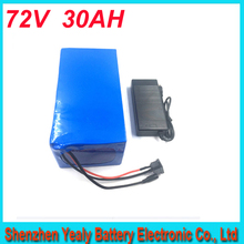 Free customs duty 72V 30AH Portable Lithium Battery Electric Bicycle Scooter 72V 500-2800W Battery Lithium-ion ebike