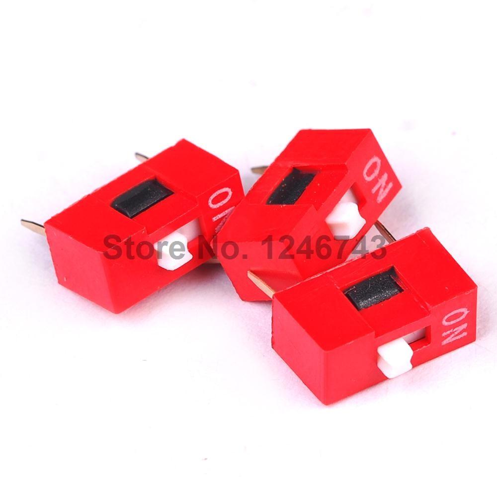все цены на 20PCS Red 2.54mm Pitch 1P 1 Positions Ways Slide Type DIP Switch онлайн
