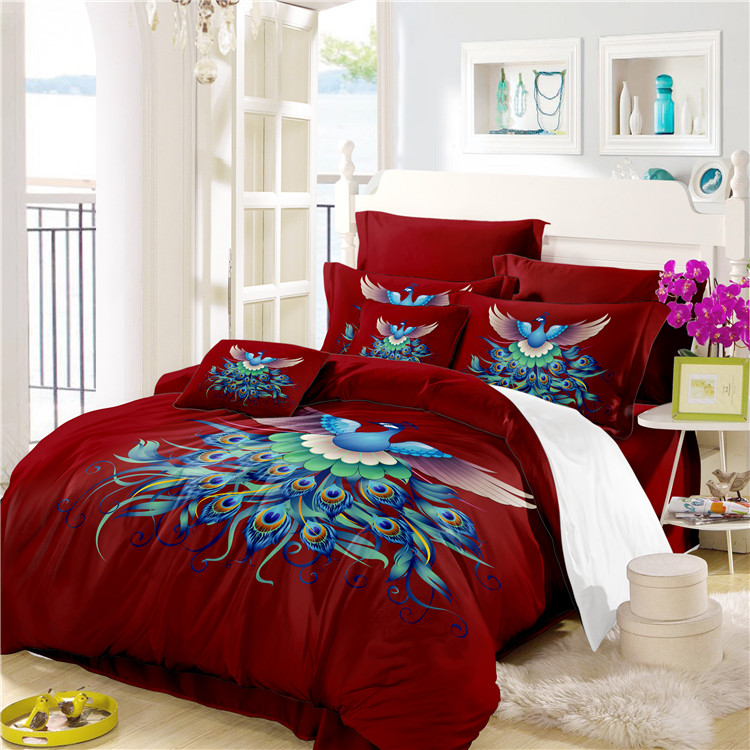 Bed Sheets Cotton The Peacock Display Feathers Bedding Set Comforter  Bedding Sets Drop Shipping A7 In Bedding Sets From Home U0026 Garden On  Aliexpress.com ...