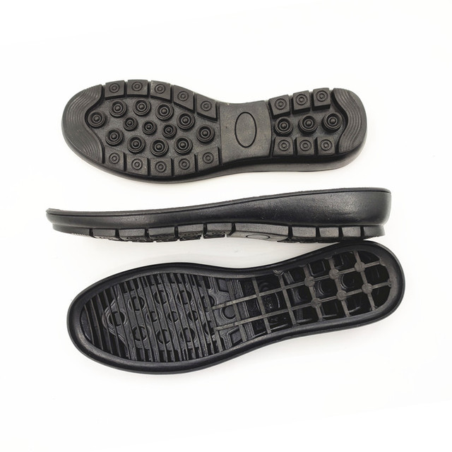 Change soles female half slope with hand slip rubber casual shoes with upper groove flat repair material accessories