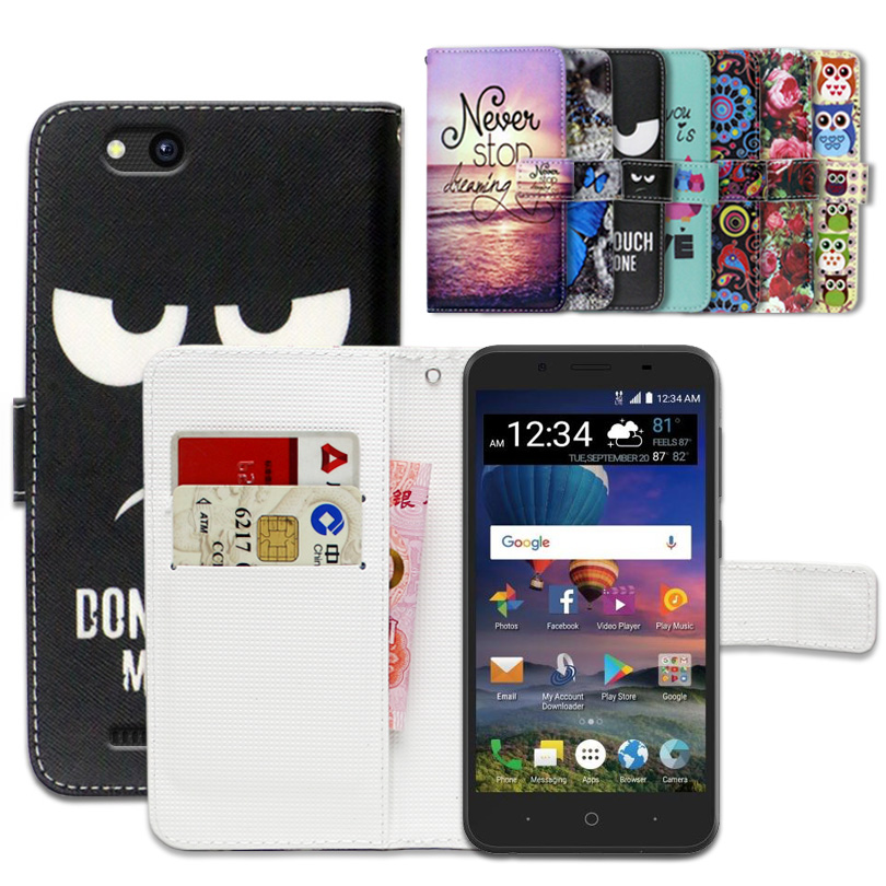 sports shoes 738f0 6109e US $3.99 20% OFF|Cartoon Wallet Case for ZTE ZFive G LTE 100% Special  Luxury PU Leather Flip Cover Book case -in Wallet Cases from Cellphones &  ...