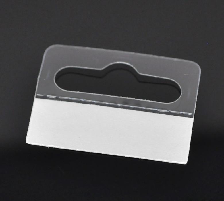 DoreenBeads 15PCs Jewelry Hanging Display Cards With Adhesive 4.1cmx3.2cm(1 5/8