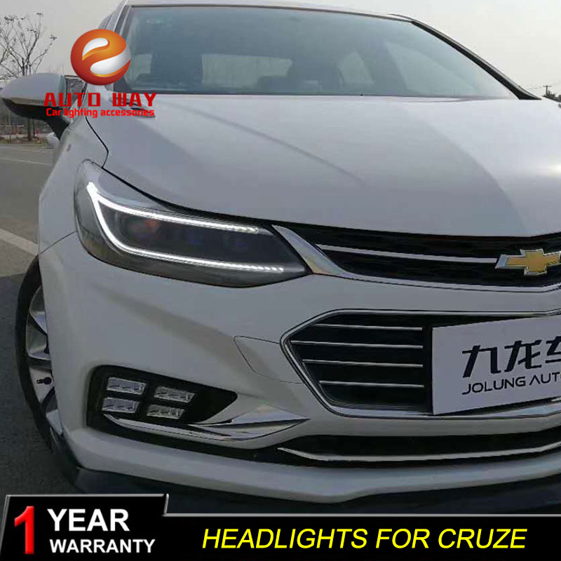 цены Car Styling Head Lamp Case For Chevrolet Cruze Headlights 2018 LED Angel Eyes Headlight DRL Bi Xenon Lens HID Low Beam