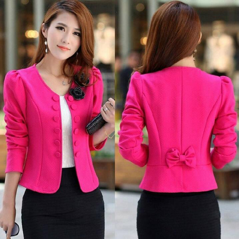 2017 Spring Autumn Double Breasted Floral Blazer Women Suits Elegant Suit Jacket Casual Long Sleeve Blaser Plus Size