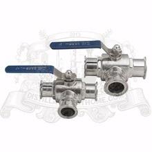 3 путь из нержавеющей стали, шарик клапана 2 «(51 мм) tri-clamp соединения 2»