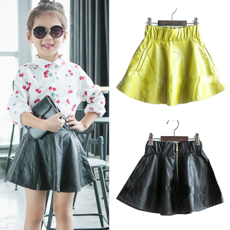 Girls Leather Skirt - Dress Ala