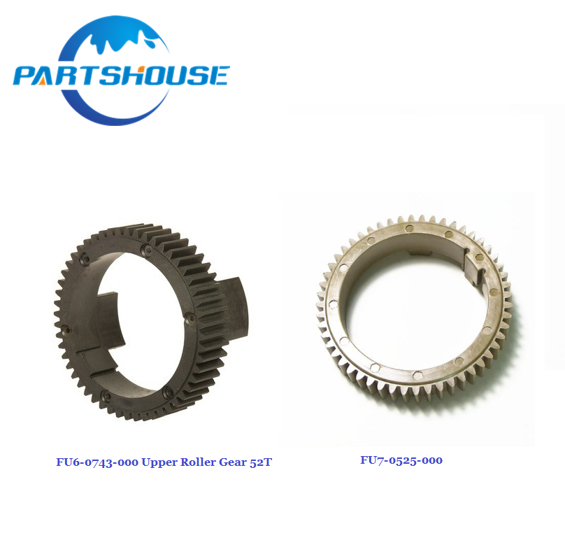 Parts House 2 sets Copier spare parts FU6-0743-000 FU7-0525-000 Fuser gear 52T For Canon IR 5070 5055 5065 5075 Upper fuser gear