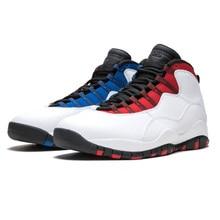 f61af7552426 Jordan Retro Tinker 10 Men Basketball Shoes White Man Sport Sneakers  Westbrook Chicago Blue Outdoor Shoes