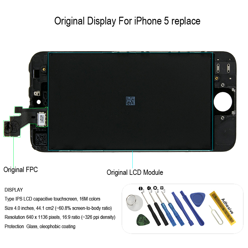<font><b>Original</b></font> <font><b>display</b></font> mit rahmen für <font><b>iphone</b></font> <font><b>5</b></font> lcd <font><b>Display</b></font> touch screen ersatz image