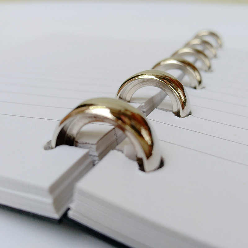 10 PCS Outer Diameter Metalen Losse Ring Paddestoel Gat Plaat Boek Binding Vel Briefpapier Boek Binding Disc Ronde Kantoorbenodigdheden